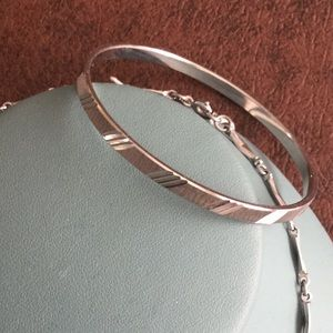 Monet chain and Monet bangle bracelet